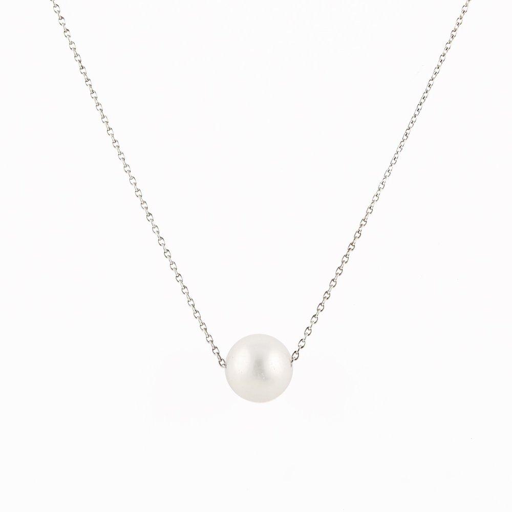 Pendentif en perles 10mm et collier (17 pouces) en argent sterling  0.952