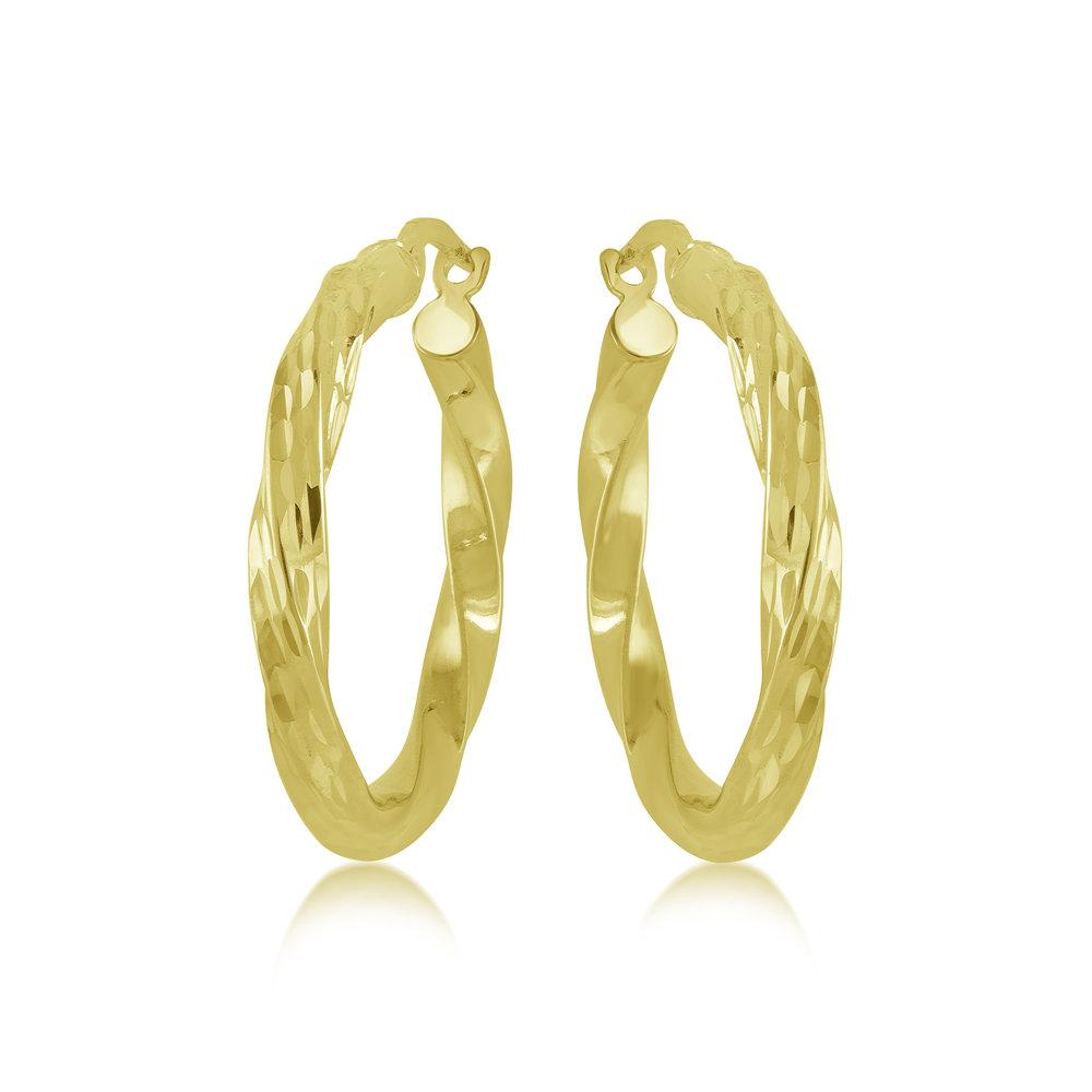 Hoop earrings for women - 10K yellow gold