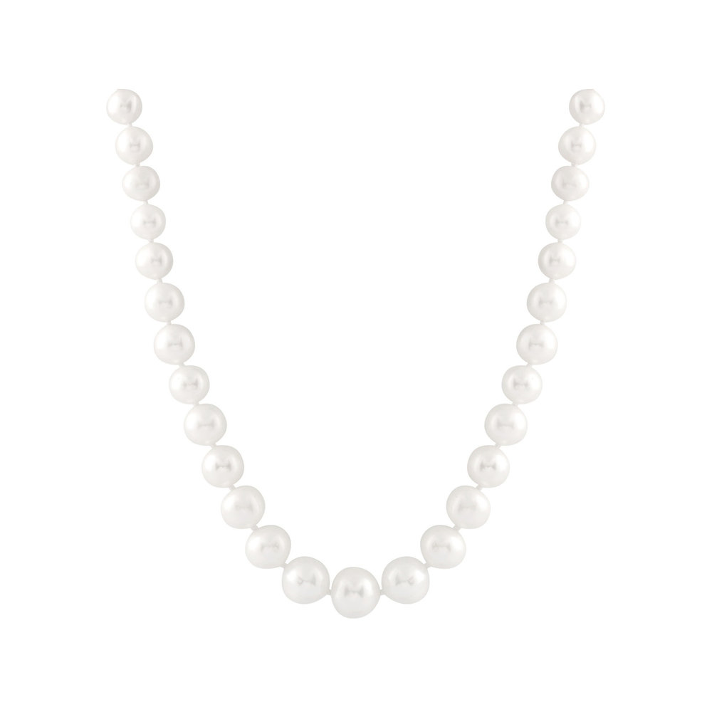 Pearl necklace 18 inches - 14K gold