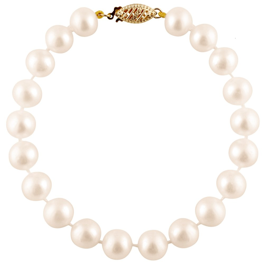 Pearl necklace 6-7MM  - 14K gold