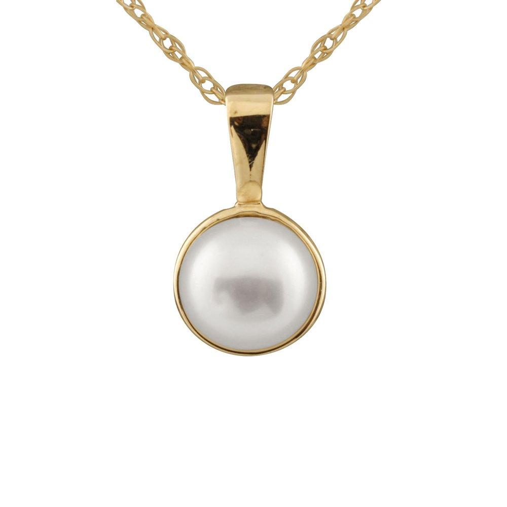 Pendentif perles  yellow gold 10K
