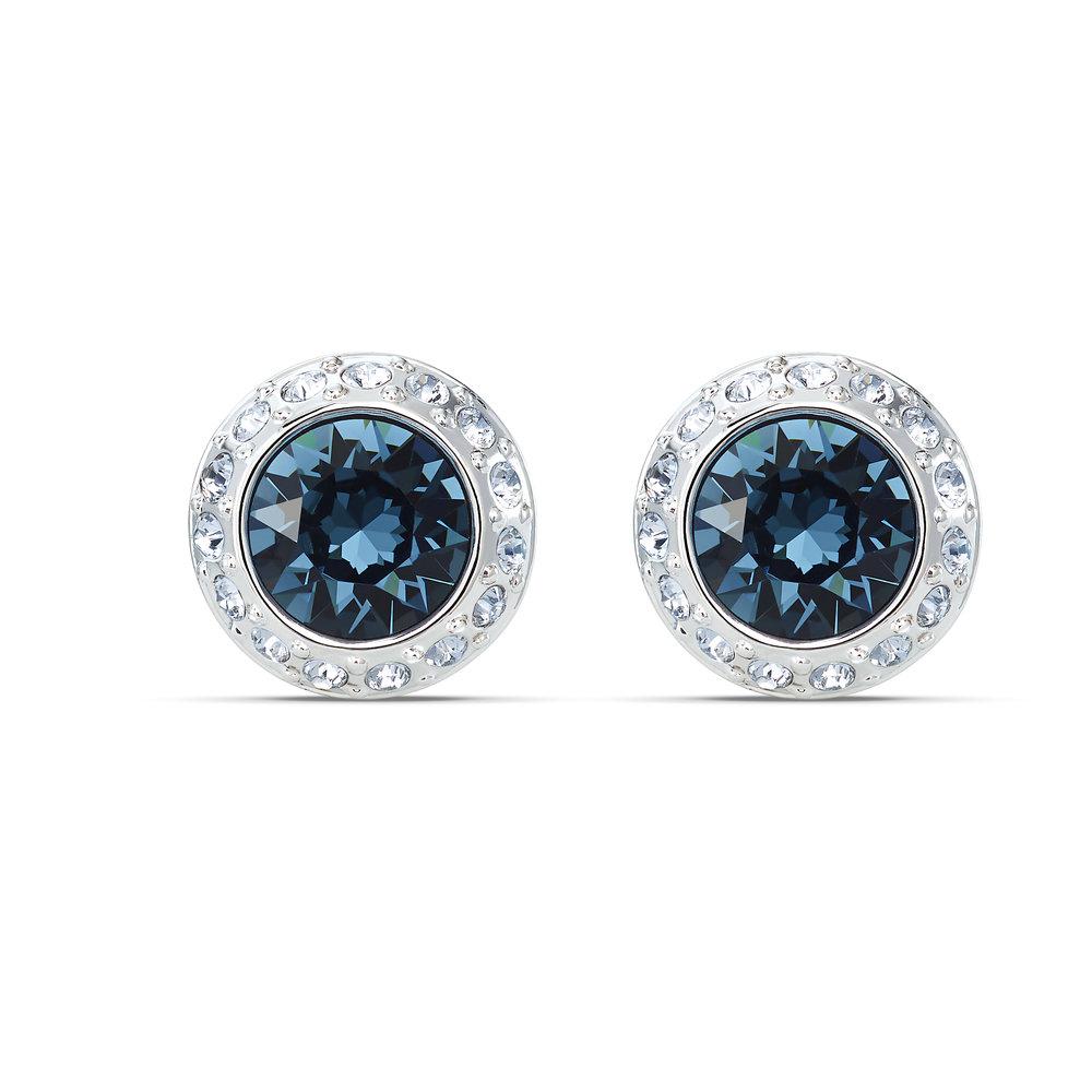 Swarovski Angelic earrings, blue, rhodium plating