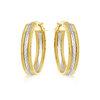 Hoop earrings for woman - 10K 2-tone gold