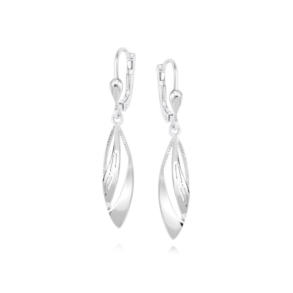 Boucles d'oreilles pendantes  - Argent sterling