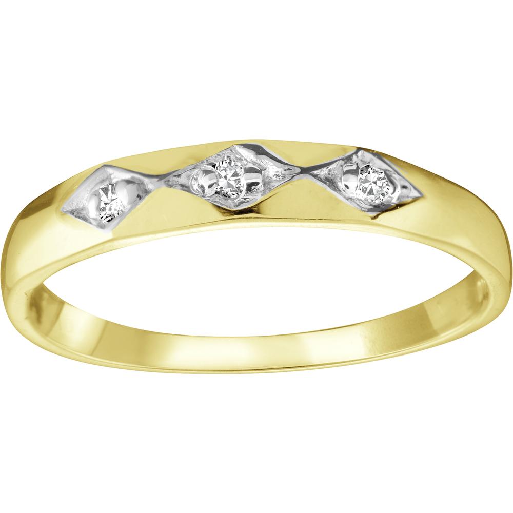 Bague pour femme - Or jaune 10K & Diamants totalisant 1 pts