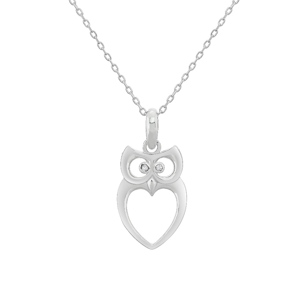 Owl pendant in sterling silver .925
