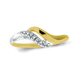 Lady's ring with diamonds 0.06 Carat T.W. Clarity:I Color:GH - in 10K 2-tone gold (yellow and white)