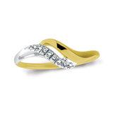 Bague pour Dame sertis de diamants totalisant 0.06 Carat Pureté:I Couleur:GH - en Or 10K 2-tons (jaune et blanc)