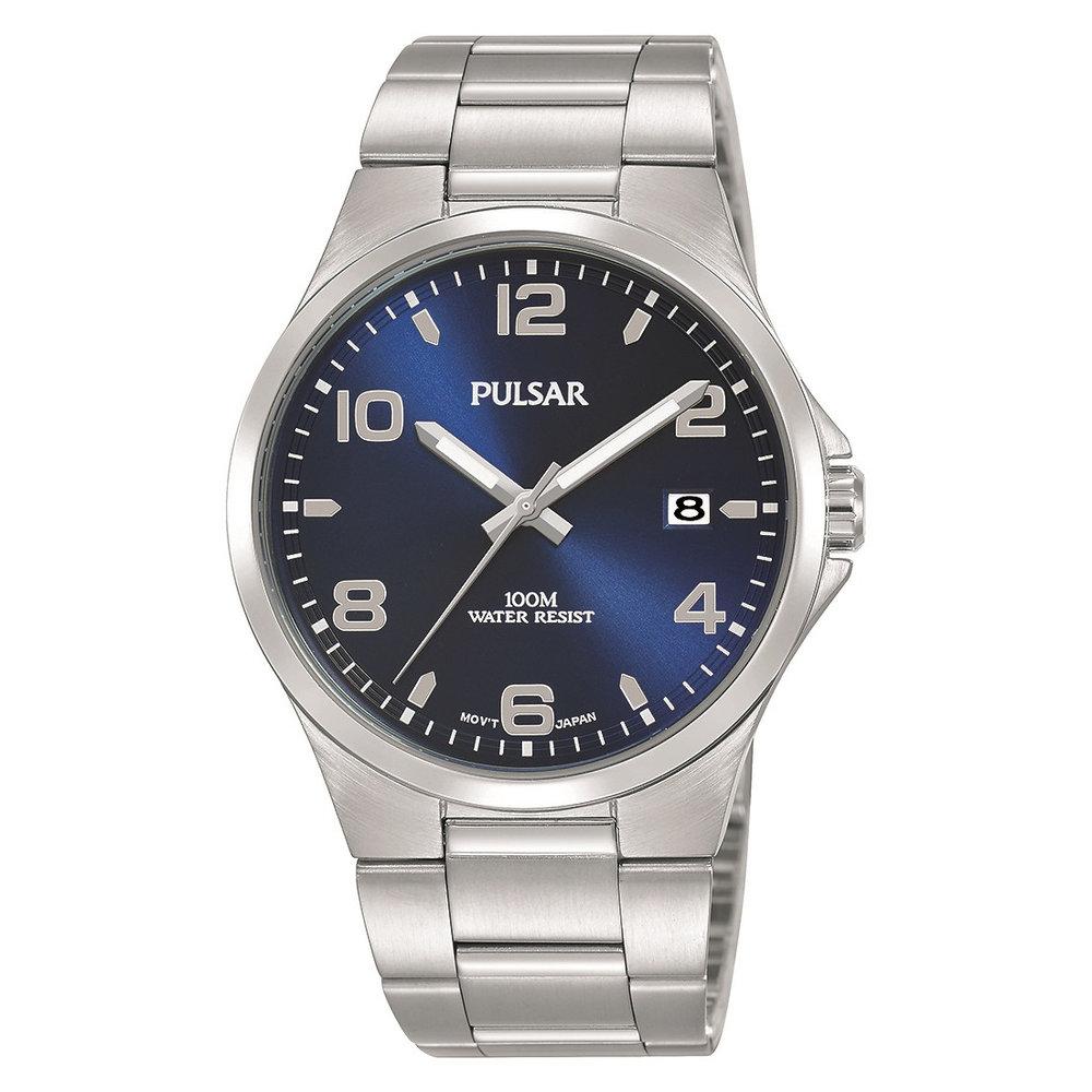 38mm Men's Sport Watch - Silver/Blue