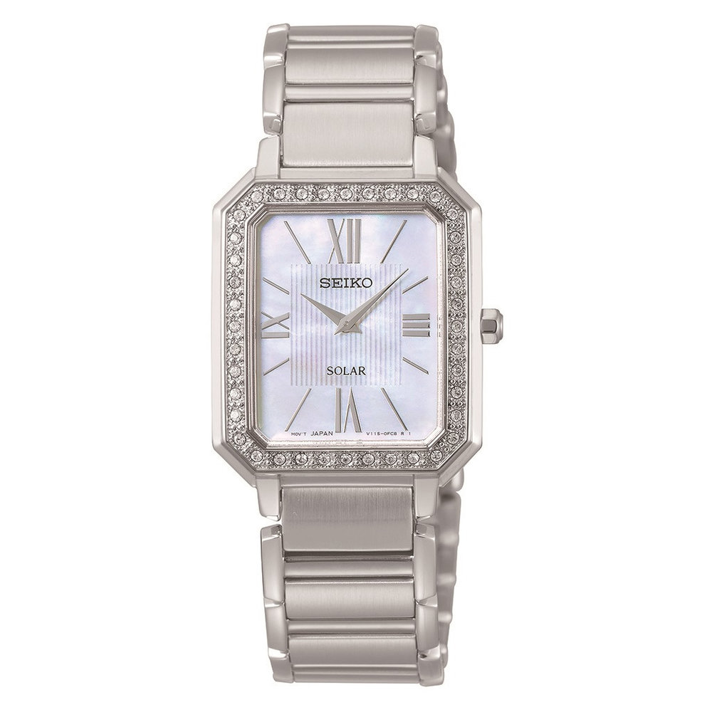 Diamond Accents Solar Women's Watch