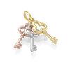 Pendentif 3 clés Or 10K 3 tons (Jaune, blanc et rose)