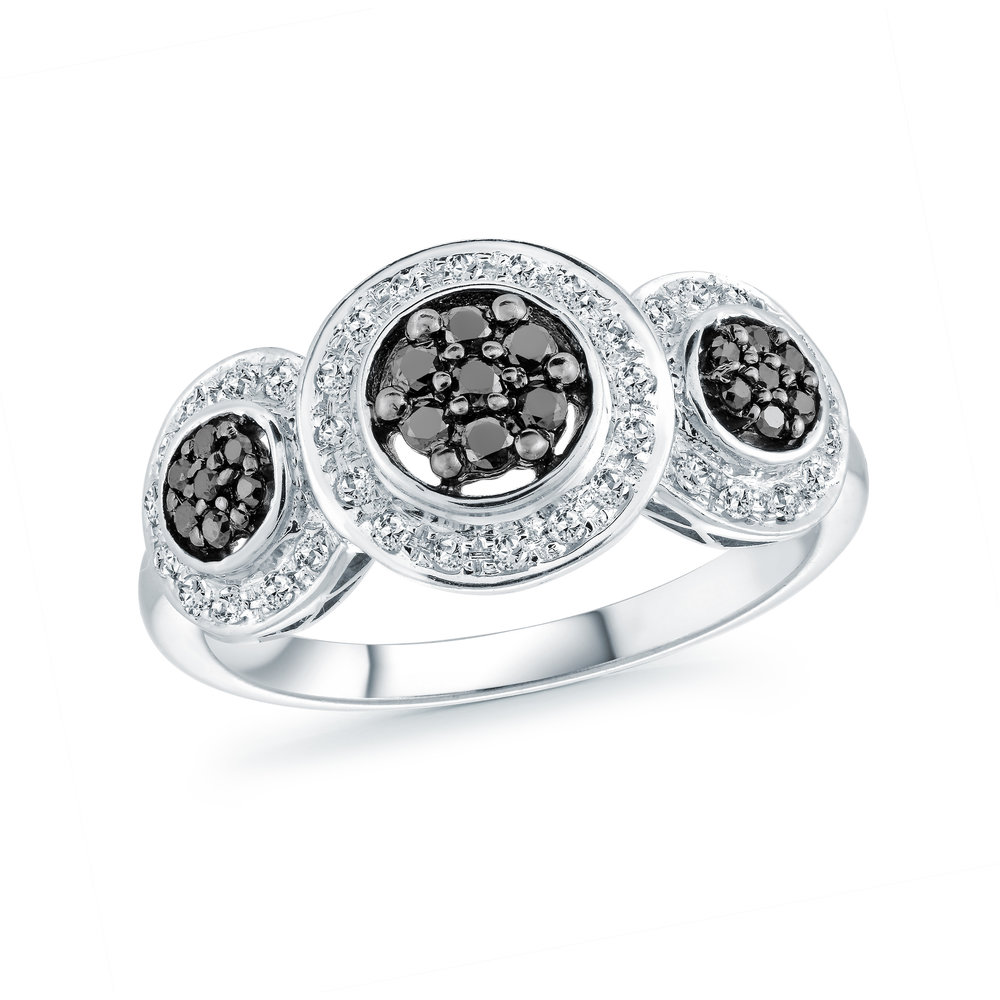 Ring for woman - 14K white Gold & Diamonds T.W. 41pts
