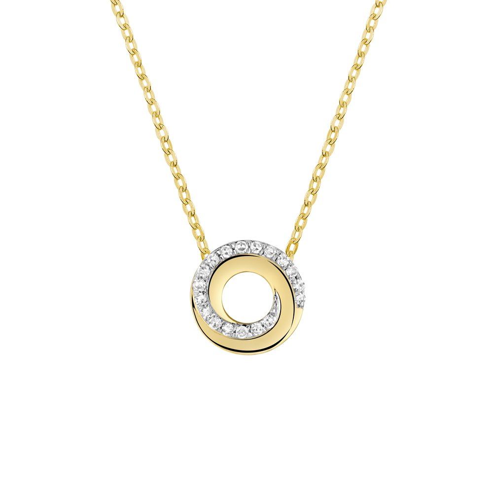 Pendentif pour femme - Or jaune 10K & Diamant