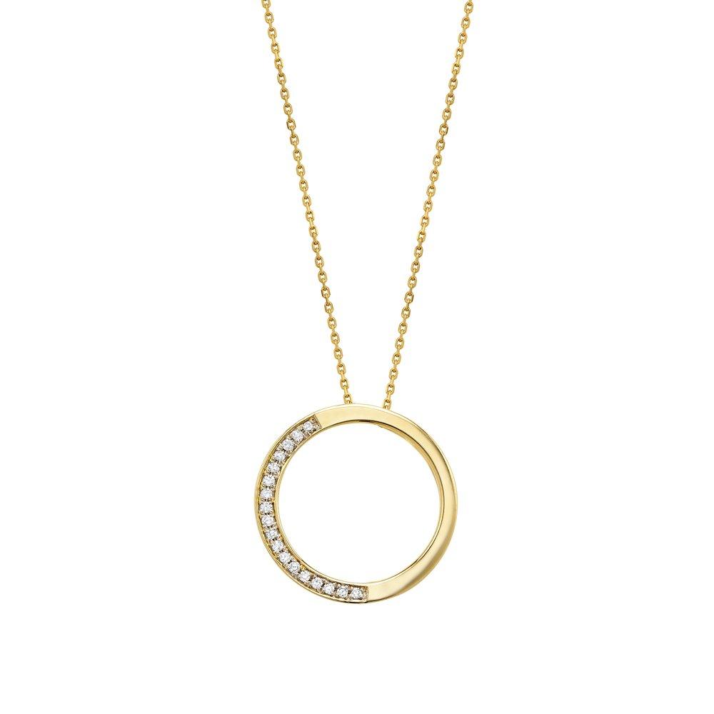 Pendentif cercle de vie pour femme  - Or jaune 10K & Diamants