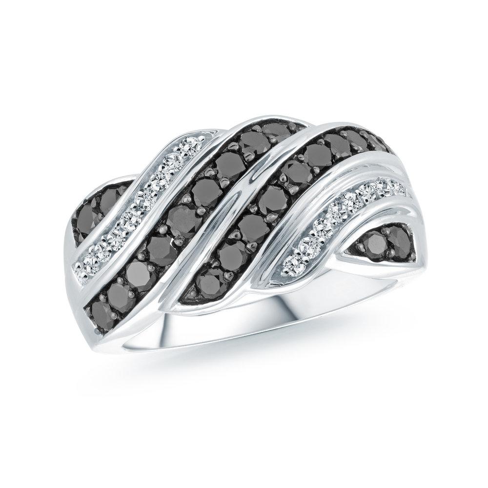 Bague pour femme - Or blanc 10K & Diamants totalisant 1.03 carats