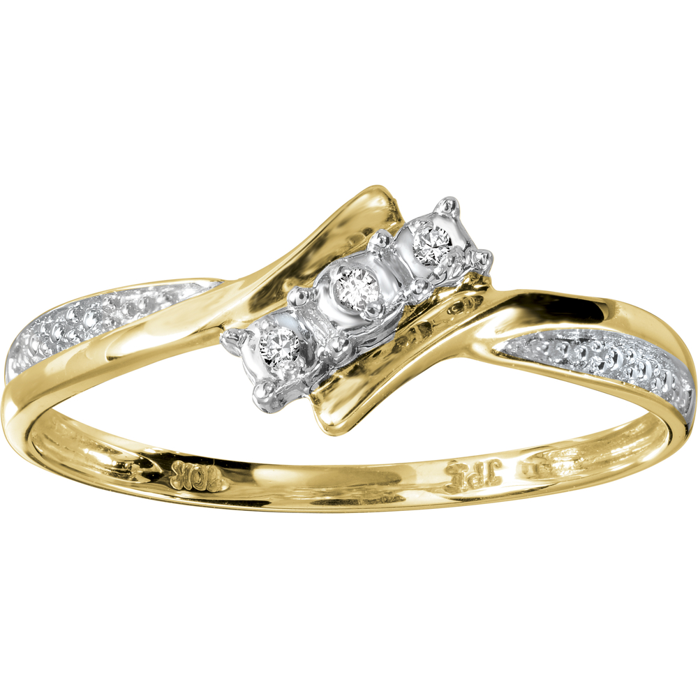 Lady's ring with diamonds 1.5 pts T.W. - in 10K 2-tone Gold (yellow and white)