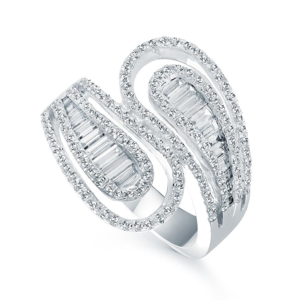 Bague pour femme - Or blanc 18K & Diamants totalisant 1.12 carat