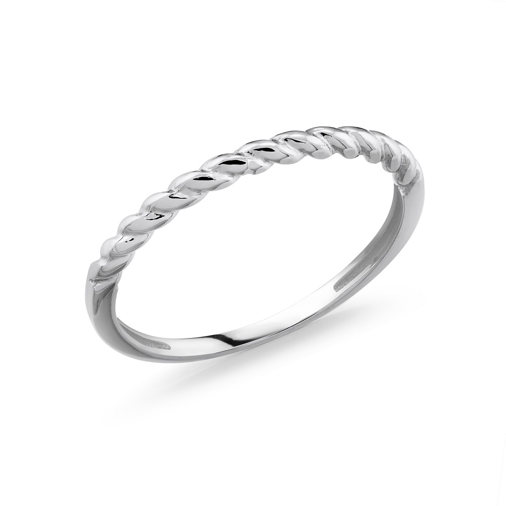 Band for woman - 10K White gold