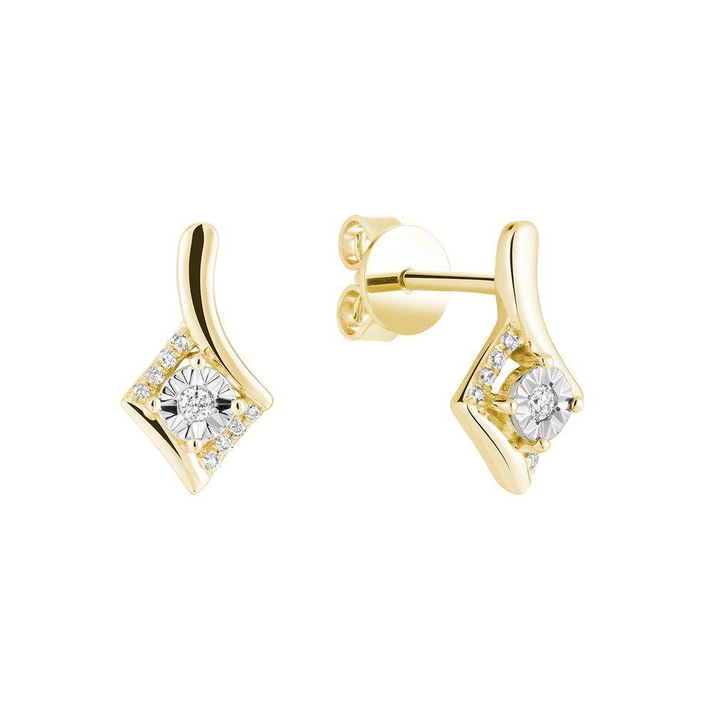 Boucles D'oreilles Fixes Pour Femme - Or 10k & Diamants
