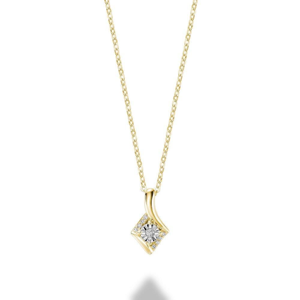 Pendentif pour femme - Or jaune 10K & Diamants totalisant 4pts.