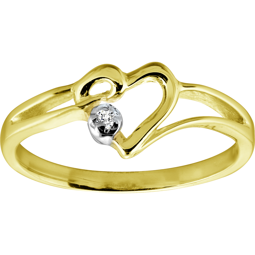 Ladie's ring Diamond 1pt I-GH in 10K yellow Gold