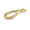 Curb bracelet for men -  Yellow stainless steel