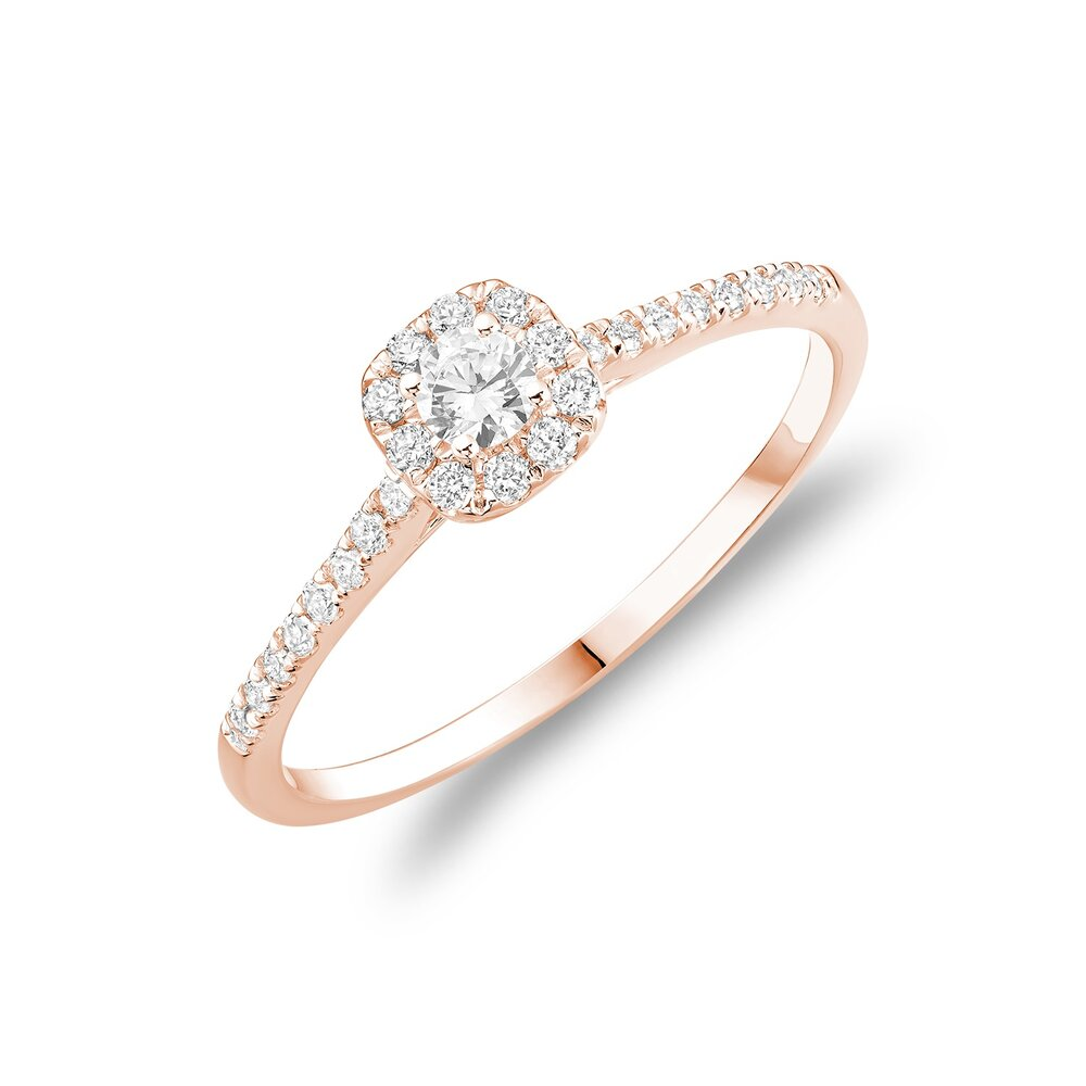 Ring For Woman - 10k rose Gold & Diamonds