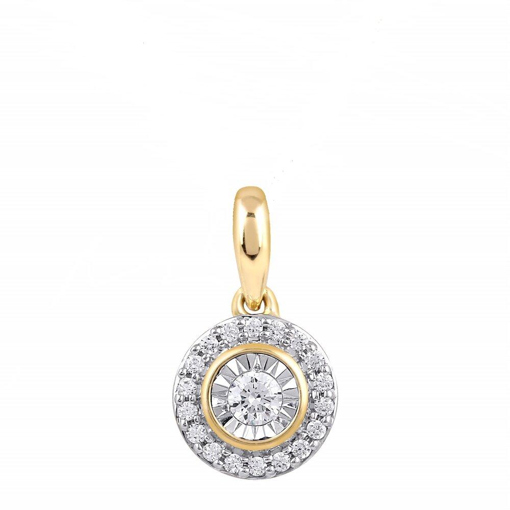 Pendentif pour femme, Or jaune 10k avec diamants totalisant 20 pts *Chaîne non inclus