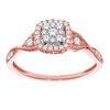 Bague pour femme - Or rose 10K & Diamants totalisant 33 pts