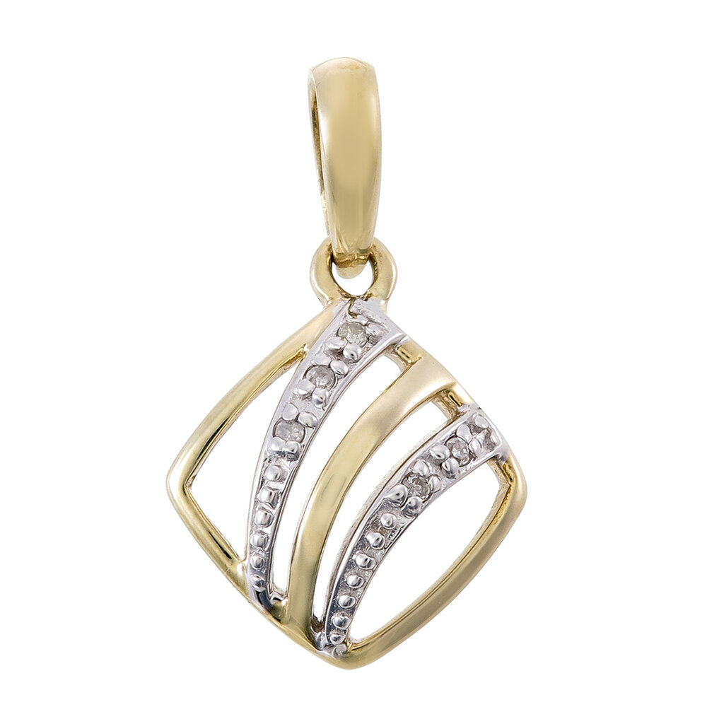 Women pendant in 10K yellow gold with diamond T.W. 2 pts