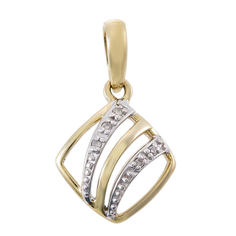 Pendentif pour femme - en or jaune 10K avec diamants totalisant 2pts