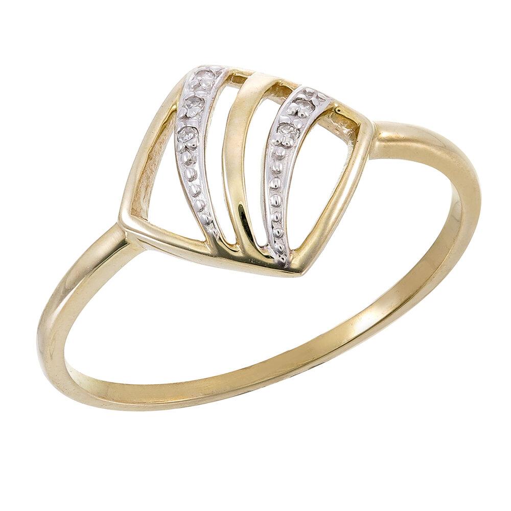 Bague pour femme en or jaune 10k avec diamants totalisant 2 pts