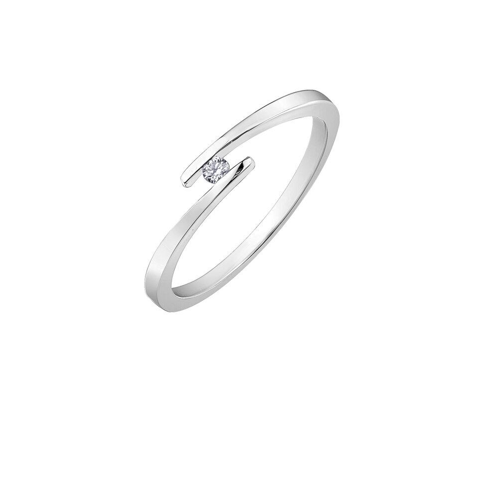 Bague pour femme - Or blanc 10K & Diamants totalisant 3 pts