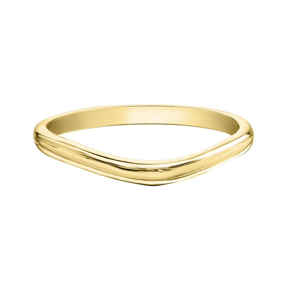 Éclat du Nord wedding Band for woman - 10K yellow gold