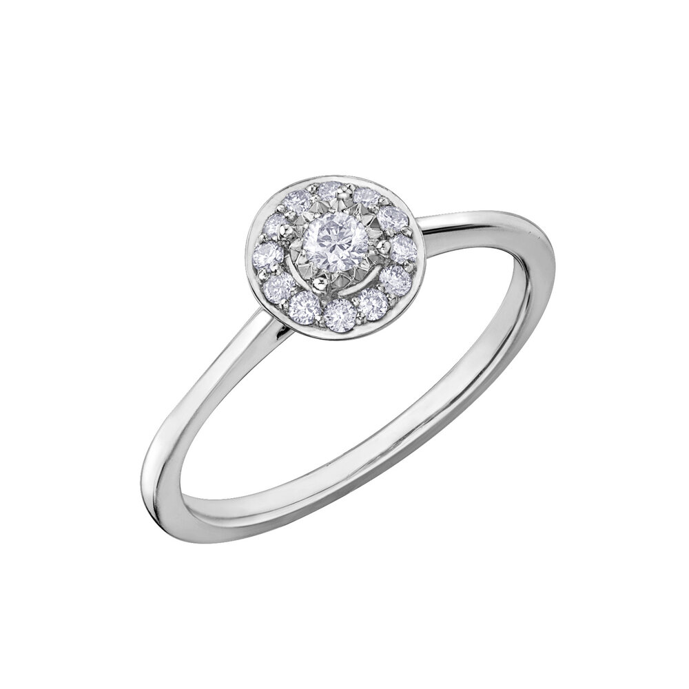 Éclat du Nord engagement ring for woman - 10K white gold & canadian diamonds T.W. 19 pts