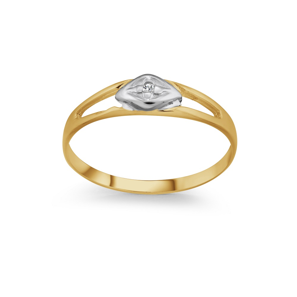 Baby's diamond ring in 10K yellow Gold