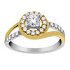 Ring for women- 10K white and yellow gold & diamonds T.W. 50 pts