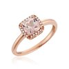 Morganite ring for women with diamond totaling 8pts.