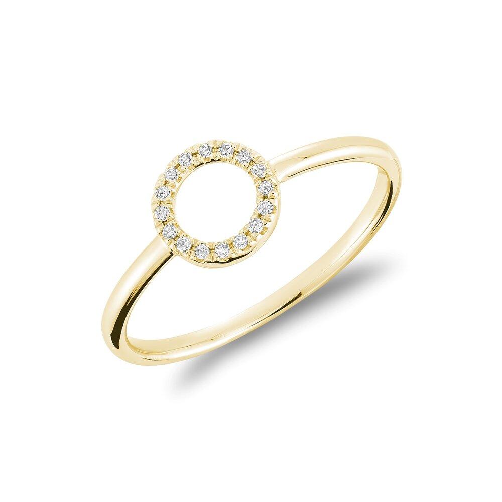 Bague pour femme - Or jaune 10K & Diamants totalisant 5pts