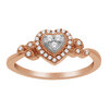 Heart ring for woman - 10K rose Gold & Diamonds T.W. 15 pts
