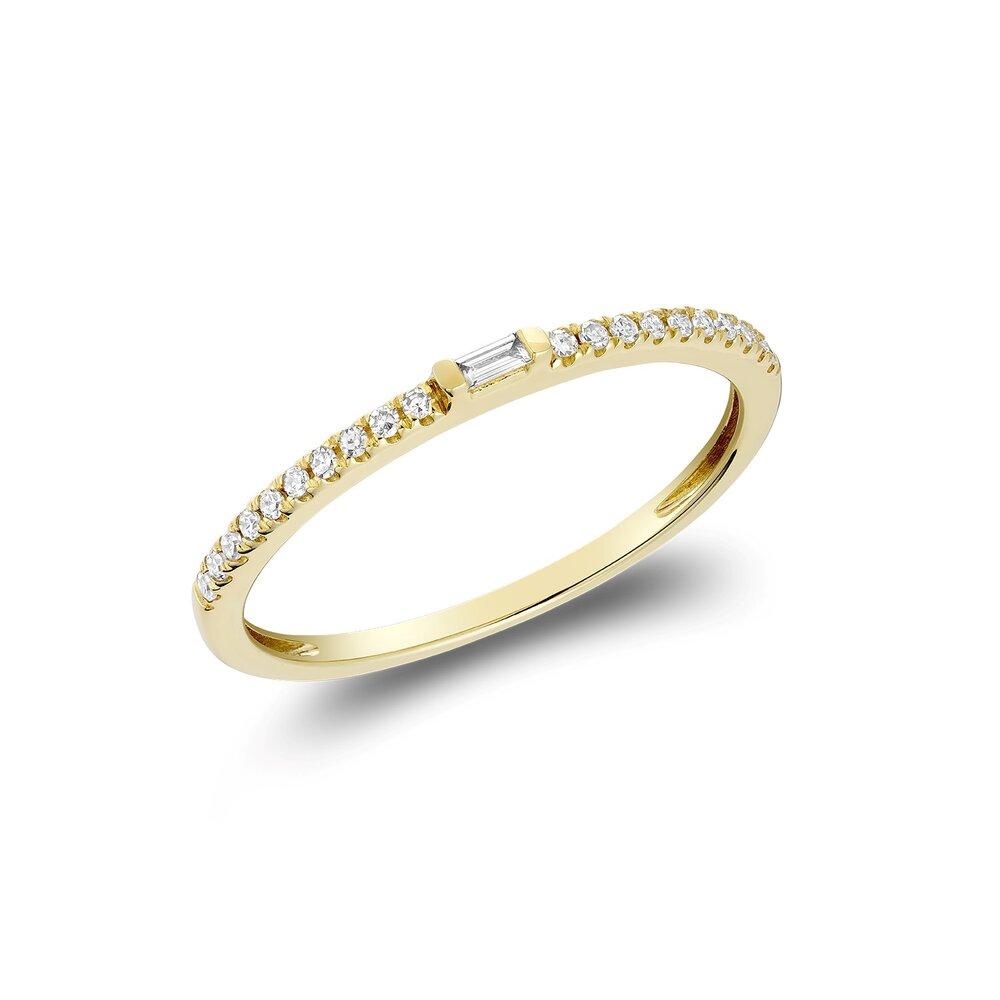 Bague pour femme - Or jaune 10K & Diamants totalisant 8pts
