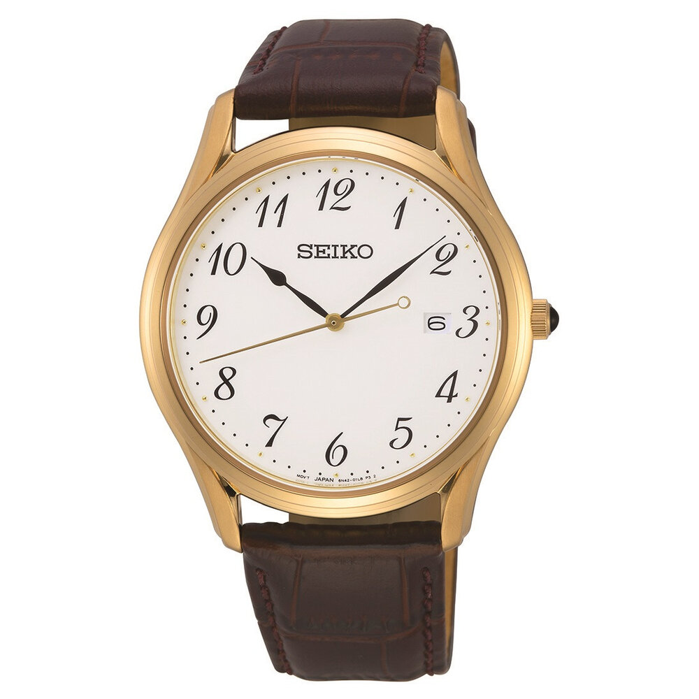Men's Watch Stainless steel case and leather strap