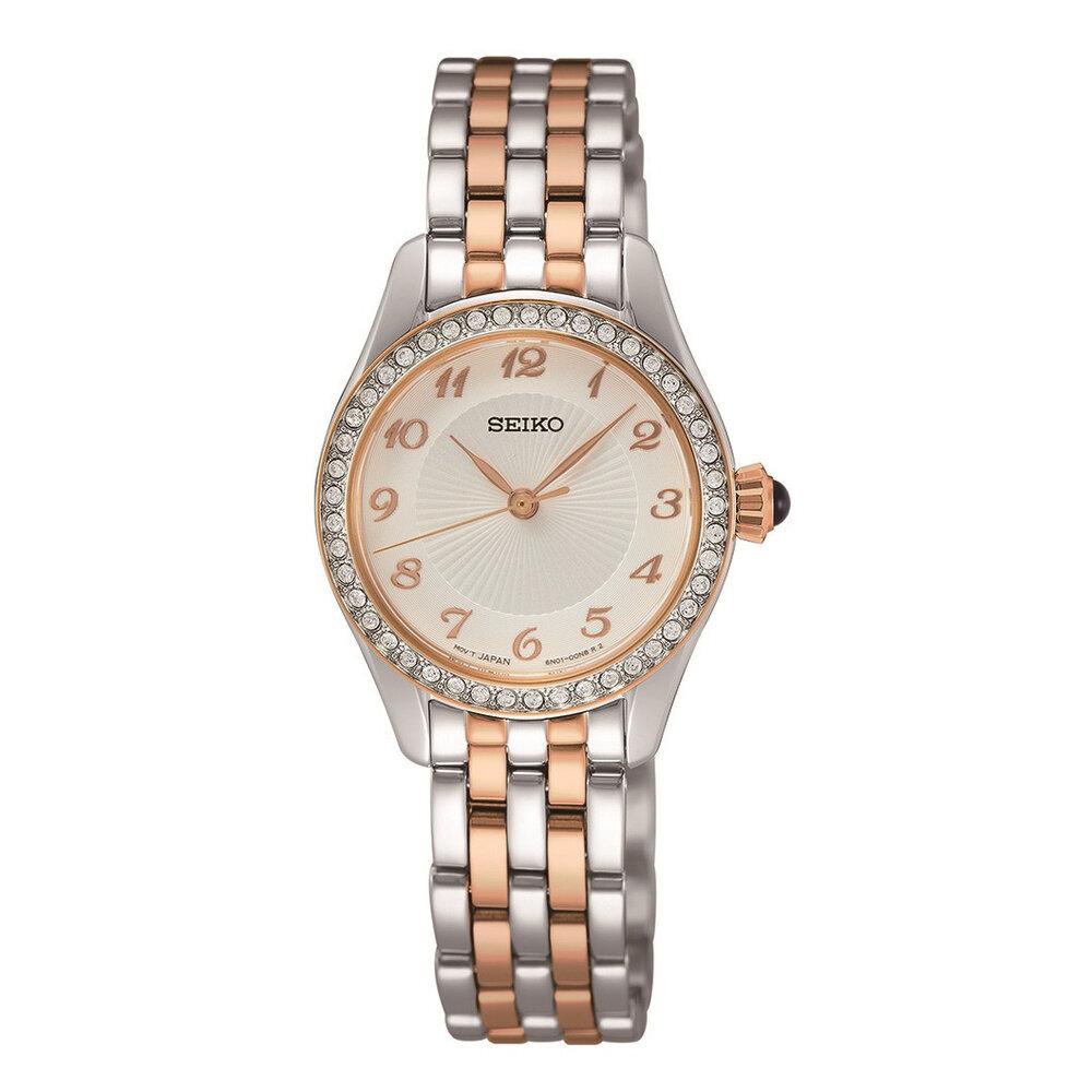 quartz women watch – silver and rose