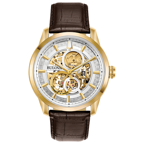 Watch for men - Leather strap & Stainless steel case