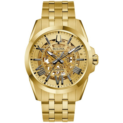 Watch Bulova for Men with Gold-tone stainless steel case