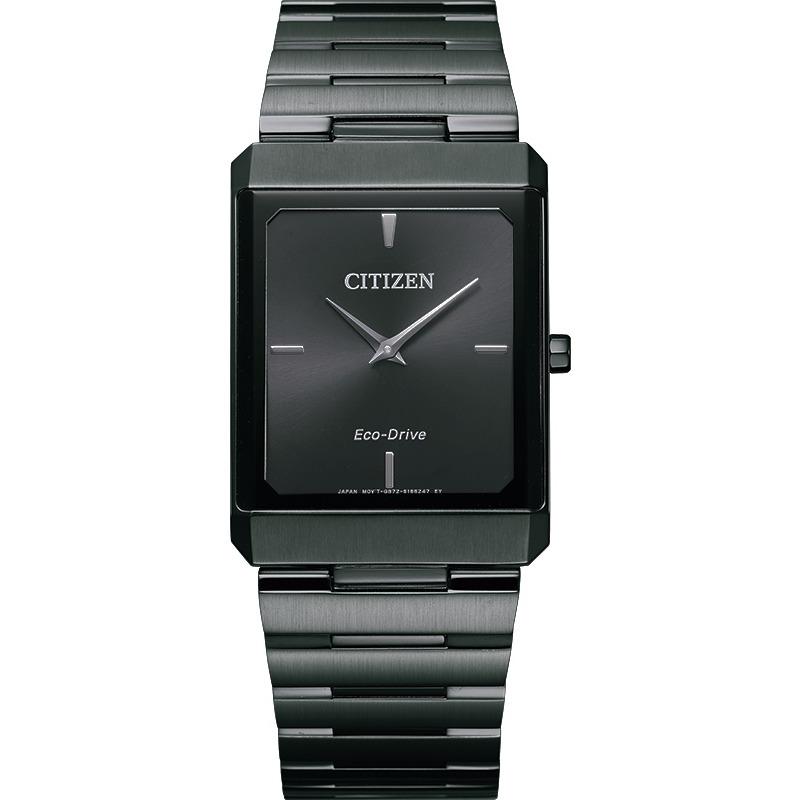 Montre Citizen Eco-Drive pour homme - Acier inoxydable gris foncé & Cadran noir