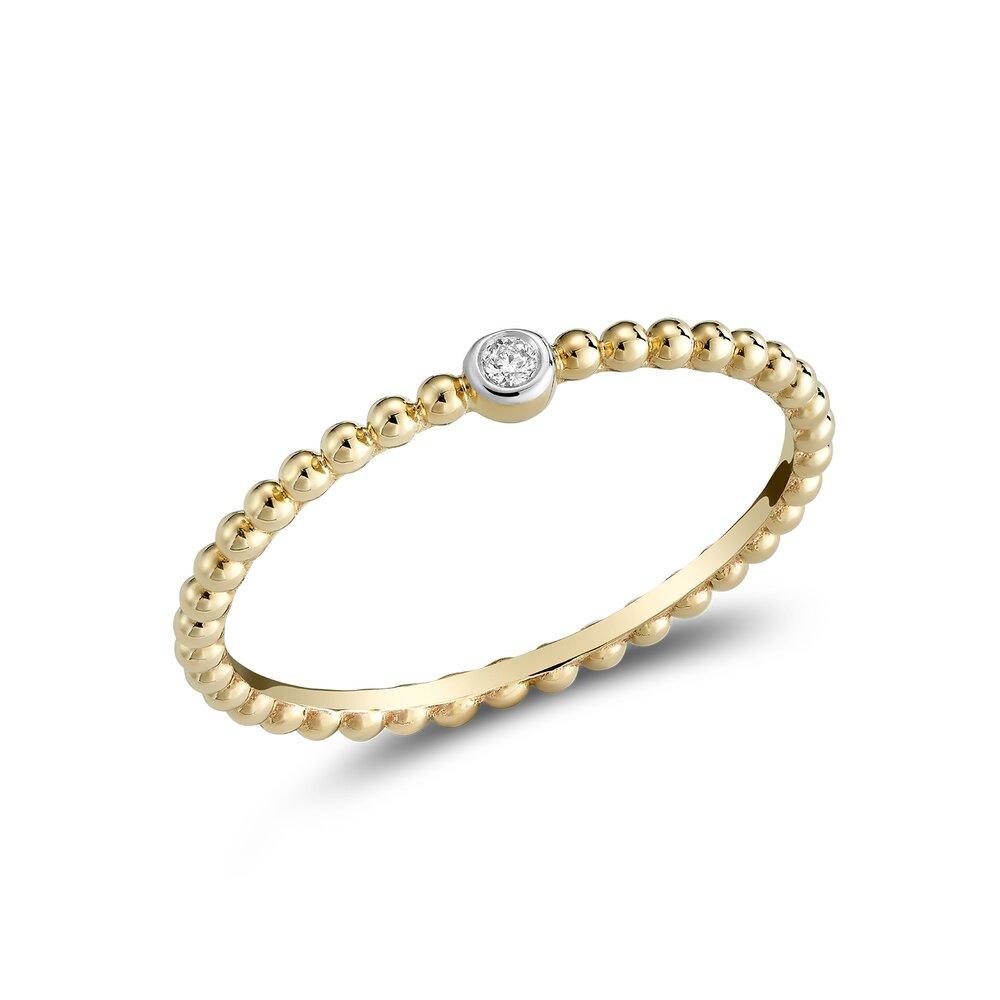 Bague pour femme - Or Jaune 10K & Diamants totalisant 2 pts