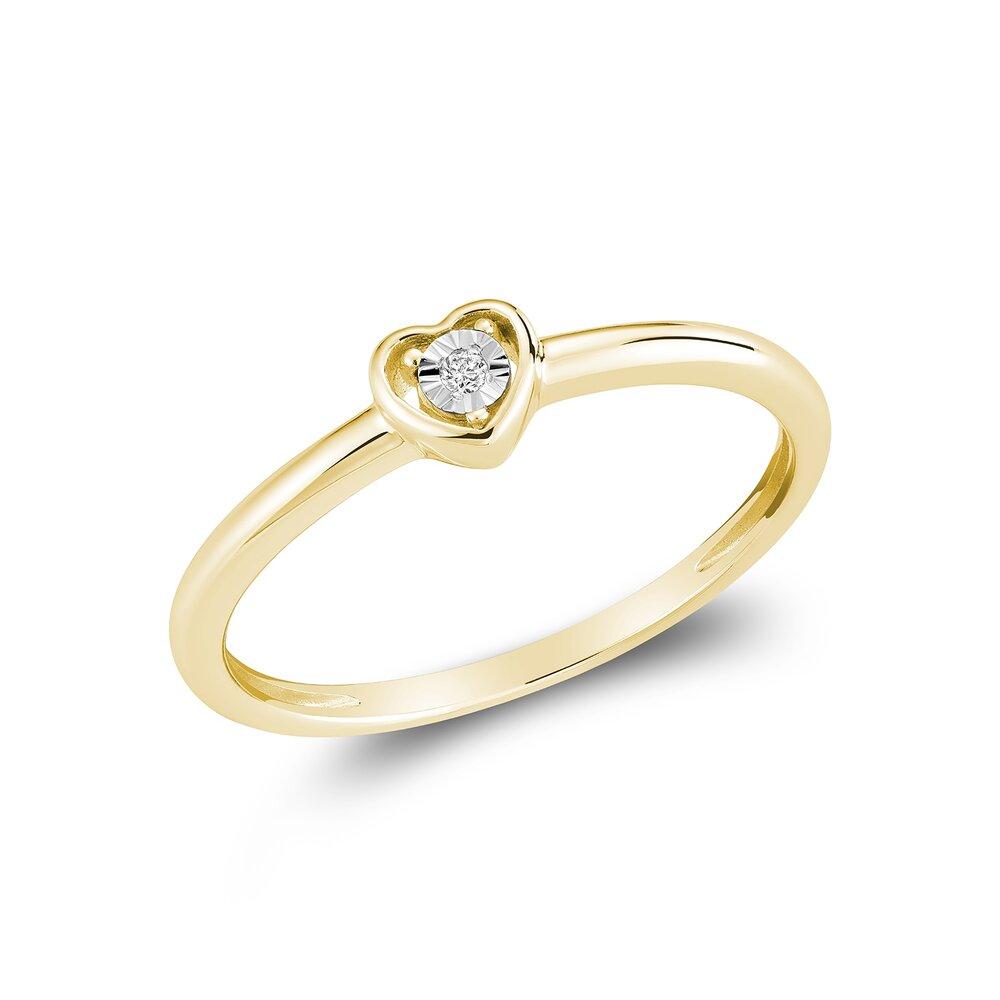 Bague pour femme - Or Jaune 10K & Diamants totalisant 1pts