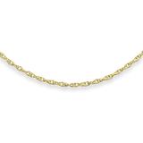 12'' Baby's Rope chain - 10K yellow Gold
