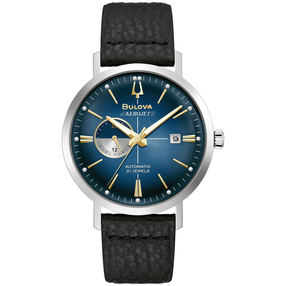 Aerojet Chronograph Automatic Blue Sunray Dial Men's Watch